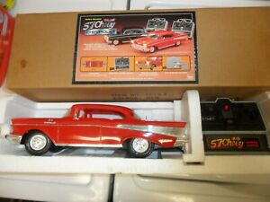 1957 RED '57 CHEVY CHEVROLET DUAL STICK REMOTE CONTROL CAR NEW BRIGHT No 2057 HK