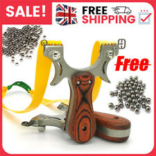 More details for powerful hunting folding slingshot catapult high velocity free rubber band +ammo