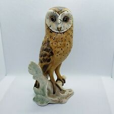 Goebel Barn Owl, Porcelain, West Germany, Hand-Painted, Numbered 1975 Figurine.