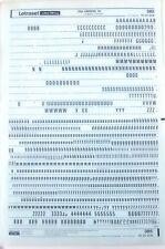 Letraset Negro frotar en carta transferencias Univers 59 24pt (#385) 5.2mm