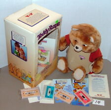 "1980s WORLDS OF WONDER TEDDY RUXPIN 18"" TALKING BEAR w BOOK & TAPES IN BOX #14"