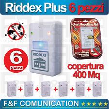 6 pz Riddex Plus REPELLENTE A ULTRASUONI SCACCIA TOPI ZANZARE INSETTI NO VELENO