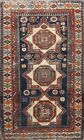 Antique Pre-1900 Vegetable Dye Hand-knotted Kazak Russian Oriental Area Rug 4x6