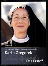 Karin Gregorek Um Himmels Willen Autogrammkarte Original Signiert ## BC 6953