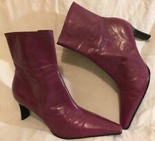 Jane Shilton Purple Ankle Leather Lovely Boots Size 38 (636vv)