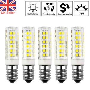4X E14 7W LED Light Bulb for Kitchen Range Hood Chimmey Fridge Cooker Warm White