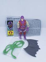 Hasbro Cobra GI JOE Nemesis Enforcer Action FIGURE VINTAGE COMPLETE W/ FILE CARD