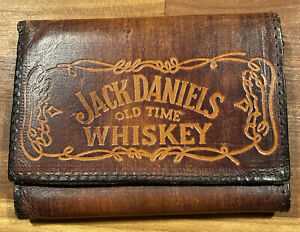 Jack Daniels Leather Trifold Wallet  -  Brown