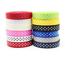 10mm Polka Dots Grosgrain Ribbon 12 color mixed Craft Card Making Scrapbooking