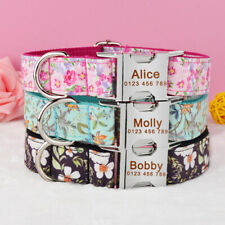 Adjustable Personalized Dog Collar Durable Nylon Free Engraved ID Name Boy Girl