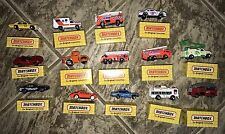 lot of 14 vintage 90's Matchbox cars nib Box