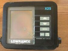 Lowrance X25 sonar depth fish finder works Broken screen needs high contrast
