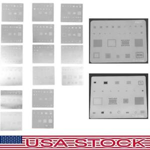 16x BGA Reballing Stencil Kits Set Solder Template Repair Tools for