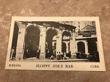 SLOPPY JOE'S BAR HAVANA CUBA POSTCARD VINTAGE