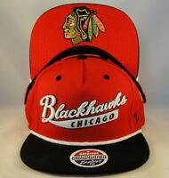 Chicago Blackhawks NHL Zephyr Snapback Hat Cap Sweep Red Black