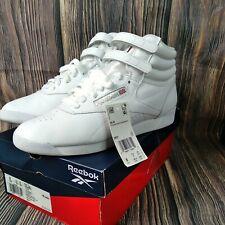 Reebok Women's Freestyle Hi Walking Shoe, White/Silver 2, Size 8.0 LOOK BRAND NE