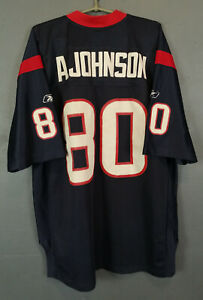 REEBOK HOUSTON TEXANS ANDRE JOHNSON 80 NFL FOOTBALL SHIRT JERSEY MAILLOT SIZE XL