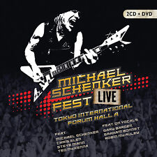 MICHAEL SCHENKER 2017 UNRELEASED MSG REUNION LIVE JAPAN CONCERT DVD & 2 CD SET