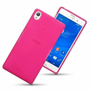TPU Gel Silicone Back Phone Case Cover for Sony Xperia Z3 with Screen Protector