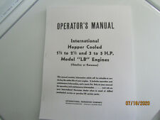 International Lb 15 25 Amp 3 5 Hp Gas Engine Instruction And Parts Manual