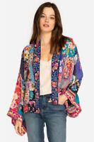 Johnny Was Adley Kimono Multi Silk Flower Jacket Multi Embroidery Large L New