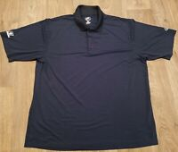 Rawlings Men's Size XL Polo Shirt NCAA Baseball Navy/Black/White No Flaws