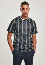 Southpole Camiseta Hombre Aop a Rayas Verticales Fino Marino