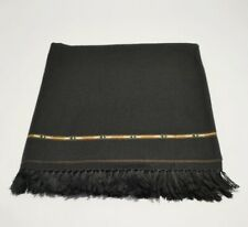 WOOL AFGHAN PATOO HANDMADE WARM SOLID PASHTUN SHAWL SCARF WRAP MENS WOMENS
