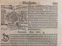 BOLOGNA xiligrafia originale Seastian Munster 1561/80