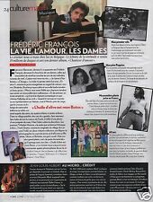 Coupure de presse Clipping 2011 Frédéric François  (1  page)