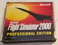 Microsoft Flight Simulator 2000 Professional Edition PC 1999 Windows Flight Sim