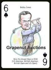 BOBBY JONES GRAND SLAM LEGEND PGA TOUR CHAMP SINGLE PLAYING SWAP CARD MASTERS