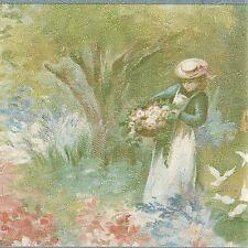 Victorian Ladies Romantic Garden - ONLY $9 - Wallpaper Border A163