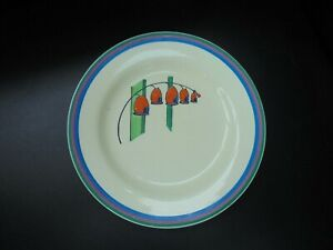 A Clarice Cliff  plate in SOLOMONS SEAL pattern