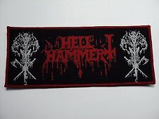hellhammer red border   WOVEN  PATCH
