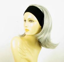 turban chimio avec bandeau cheveux gris ref XENA en 51