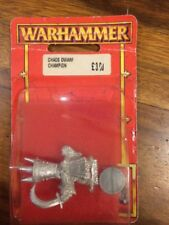 Chaos Dwarf Champion/ Hero New Blister Warhammer Metal OOP