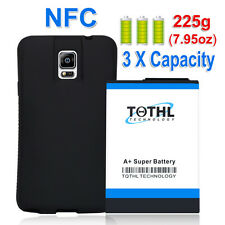 TQTHL Samsung Galaxy Note 4 SM-N910T 11800mah Extended Battery+Black Case