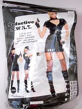 Size M/L Women's Police Swat Uniform Sexy Costume Cosplay Halloween