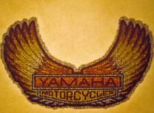 NOS Vintage Iron On Heat Transfer GLITTER Small Yamaha Motorcycle 70s 80s