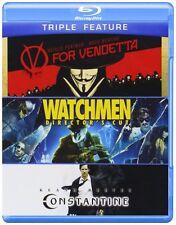 WATCHMEN / V FOR VENDETTA / CONSTANTINE  -  Blu Ray - Sealed Region free
