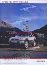 "Toyota Rav4 ""Start Rambling"" 1999 Magazine Advert #3344"