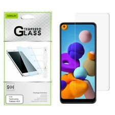 For Samsung Galaxy A21 Tempered Glass Screen Protector Premium Guard Curved
