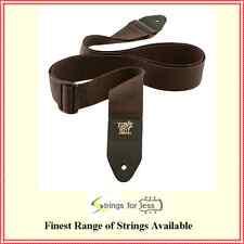Ernie Ball  Polypro Guitar Strap Leather Ends Brown  Adjustable Super Long