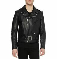 Noora Men's Motorcycle Leather Jacket Lambskin Biker Highyway Jacket Slim NI-23