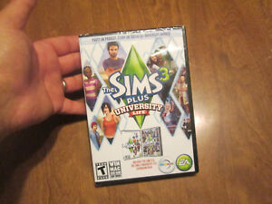 THE SIMS 3 PLUS UNIVERSITY LIFE PC  BRAND NEW FACTORY SEALED
