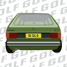 VW Series 1 Mk1 Golf Rear decal In Matt Black