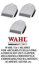 3- Wahl Moser FINE 5 in 1 Blade for FIGURA,Bravura,ARCO,CHROMADO,Li+PRO Clipper