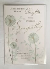 On The Sad Loss Of Your Daughter - With Deepest Sympathy - Condolence Card