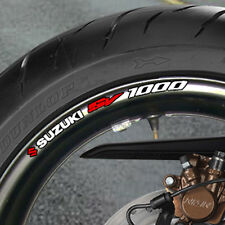 8 x SUZUKI SV 1000 WHEEL RIM STICKERS  DECALS SV1000 B